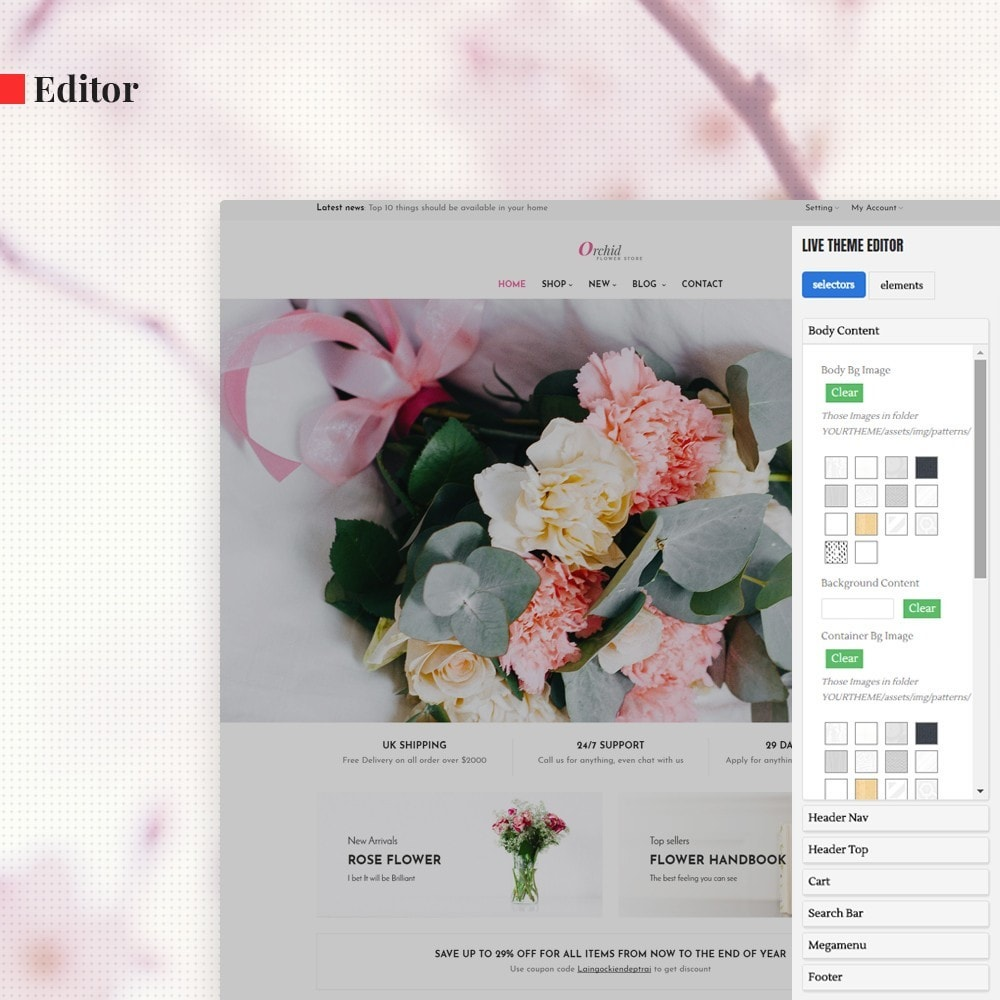 theme - Gifts, Flowers & Celebrations - Leo Orchid - 3