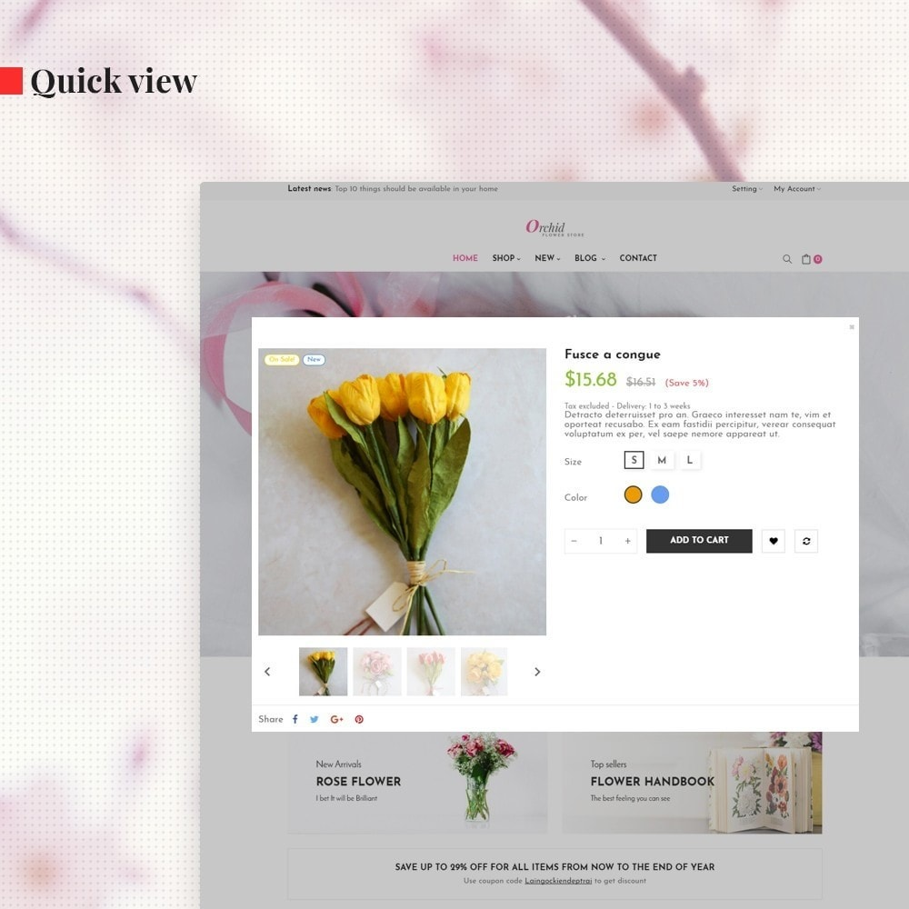 theme - Gifts, Flowers & Celebrations - Leo Orchid - 6