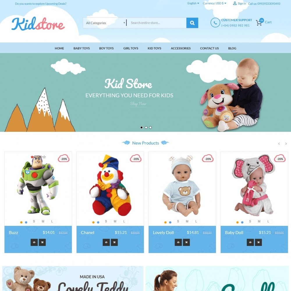 theme - Enfants & Jouets - Baby - Kids & Children Store - 1