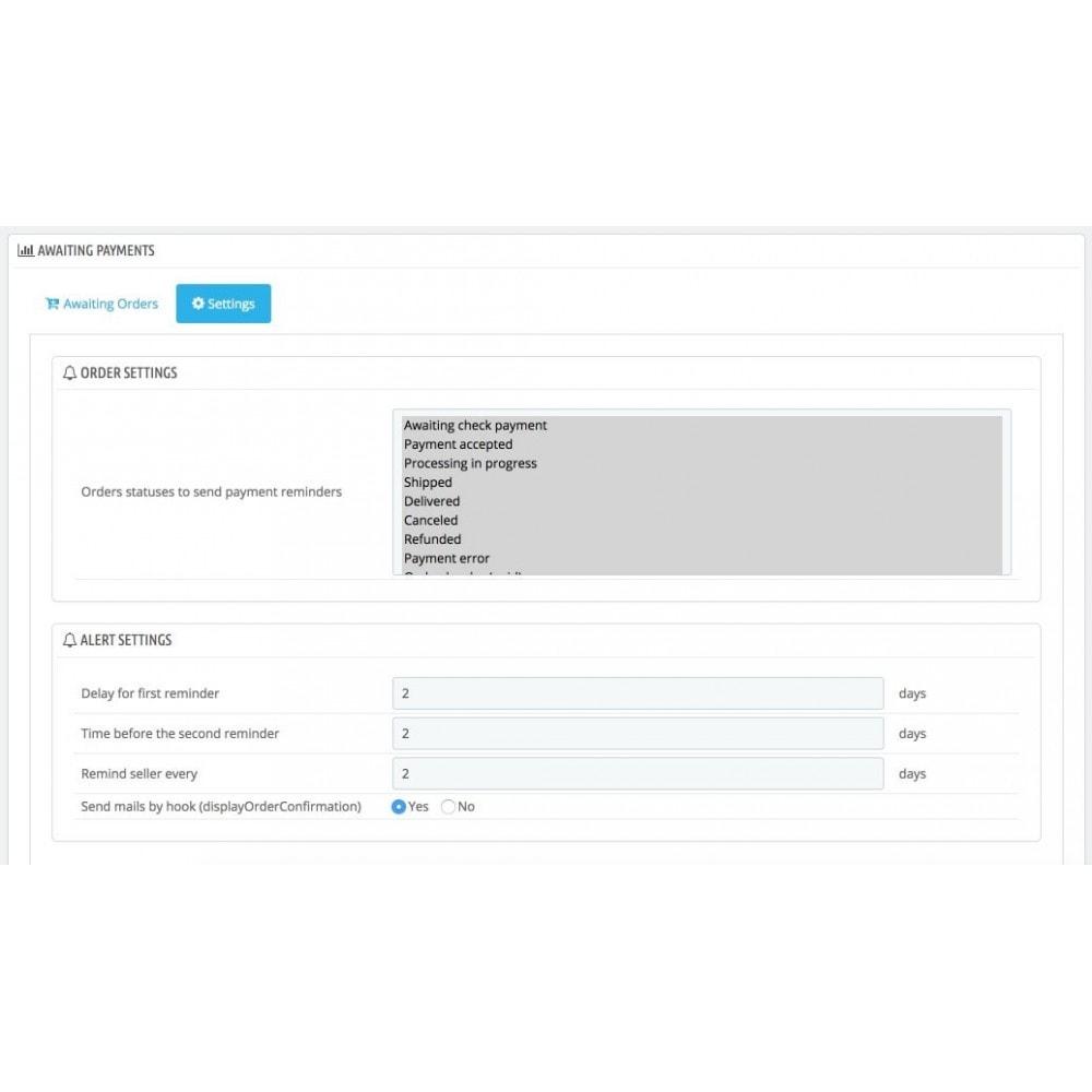 module - Processus rapide de commande - Relance de paiements - 3