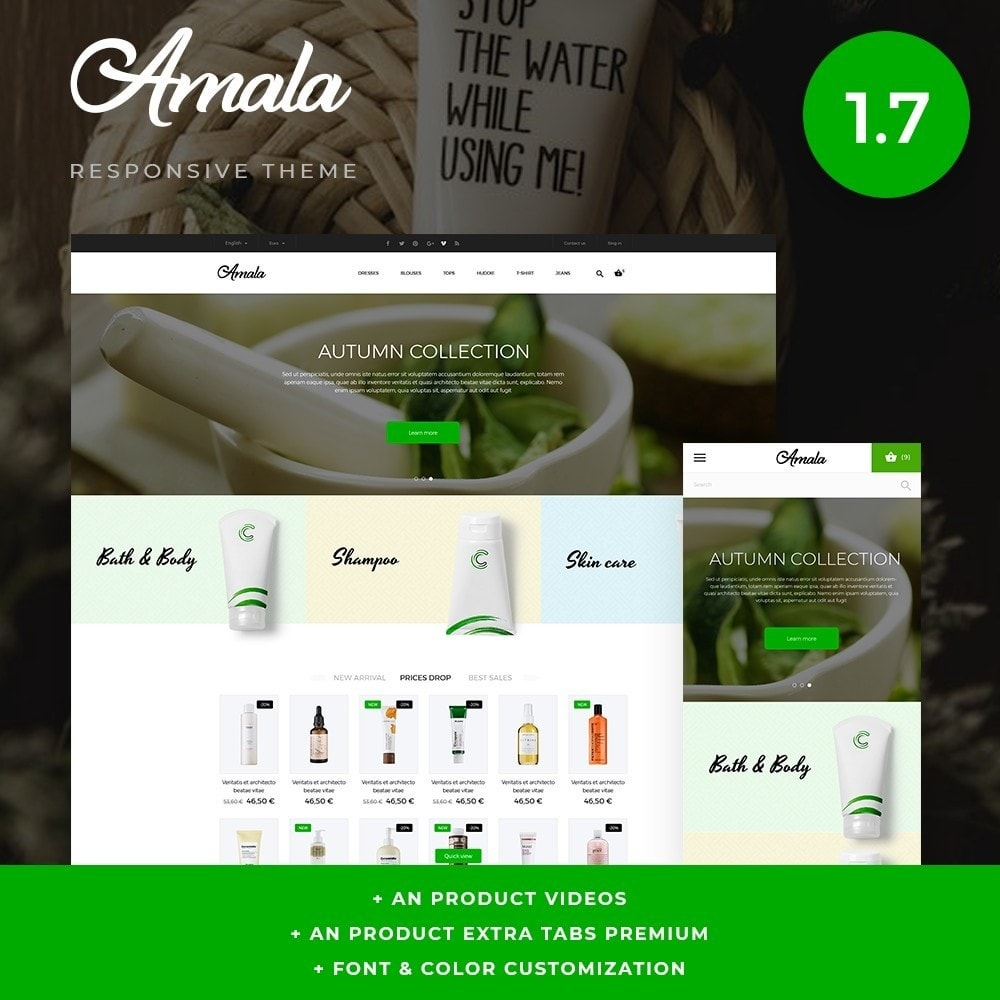 theme - Salute & Bellezza - Amala Cosmetics - 1