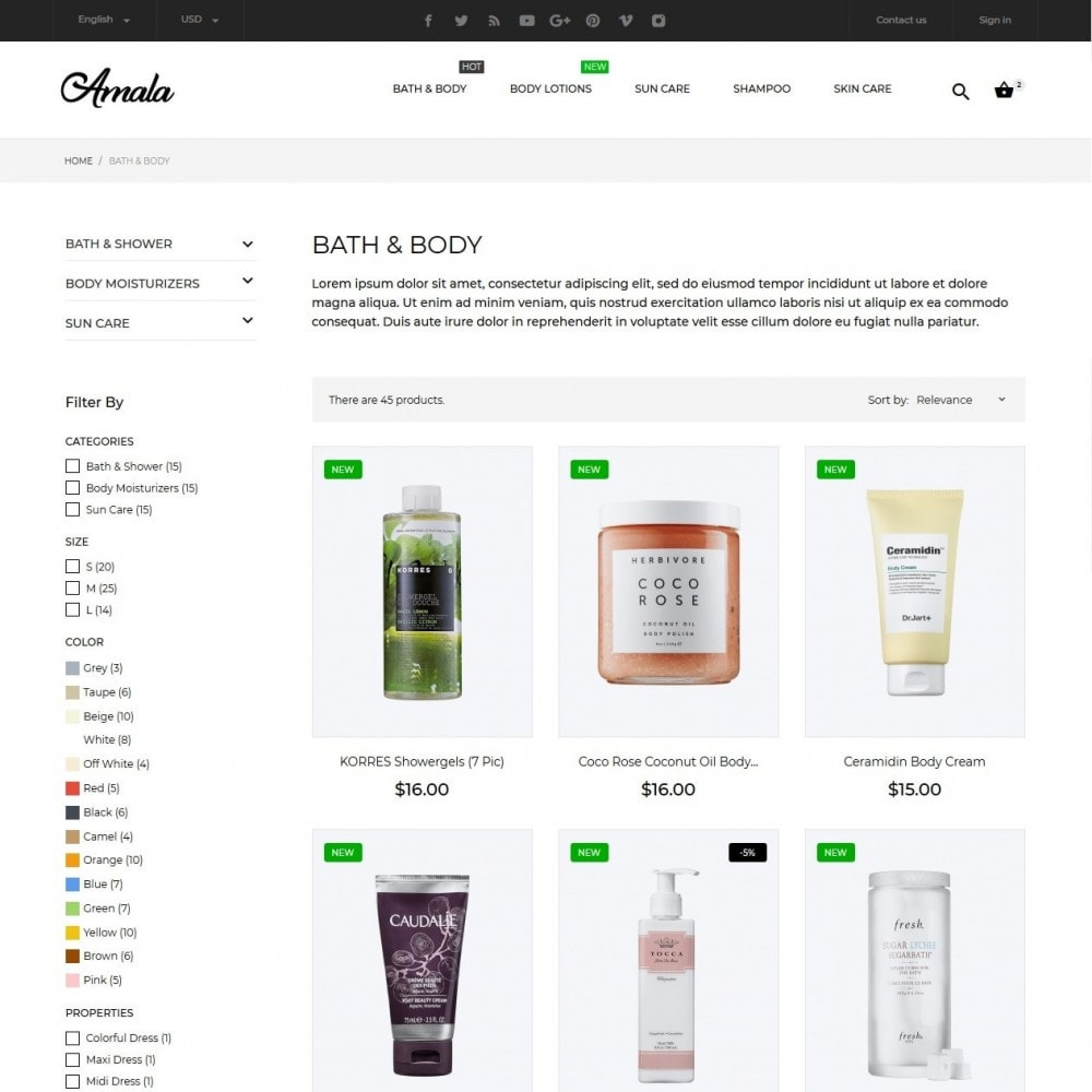 theme - Health & Beauty - Amala Cosmetics - 5