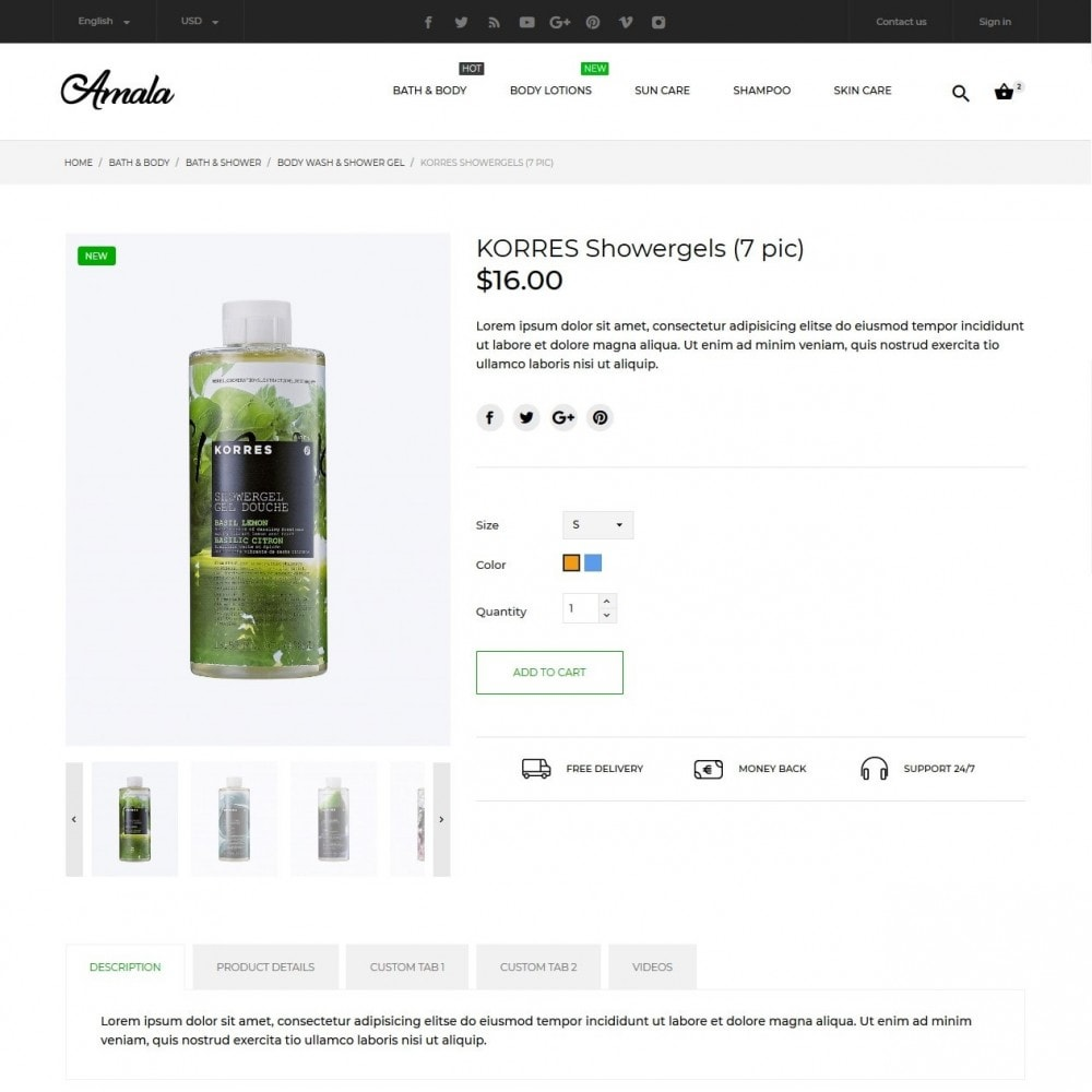theme - Health & Beauty - Amala Cosmetics - 6