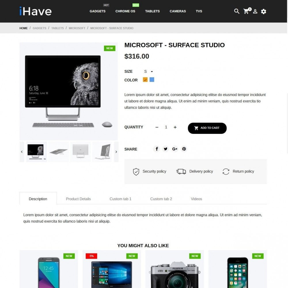 theme - Electronics & Computers - iHave - High-tech Shop - 6