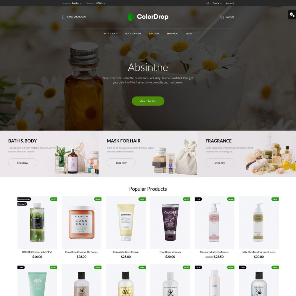 theme - Health & Beauty - ColorDrop Cosmetics - 2