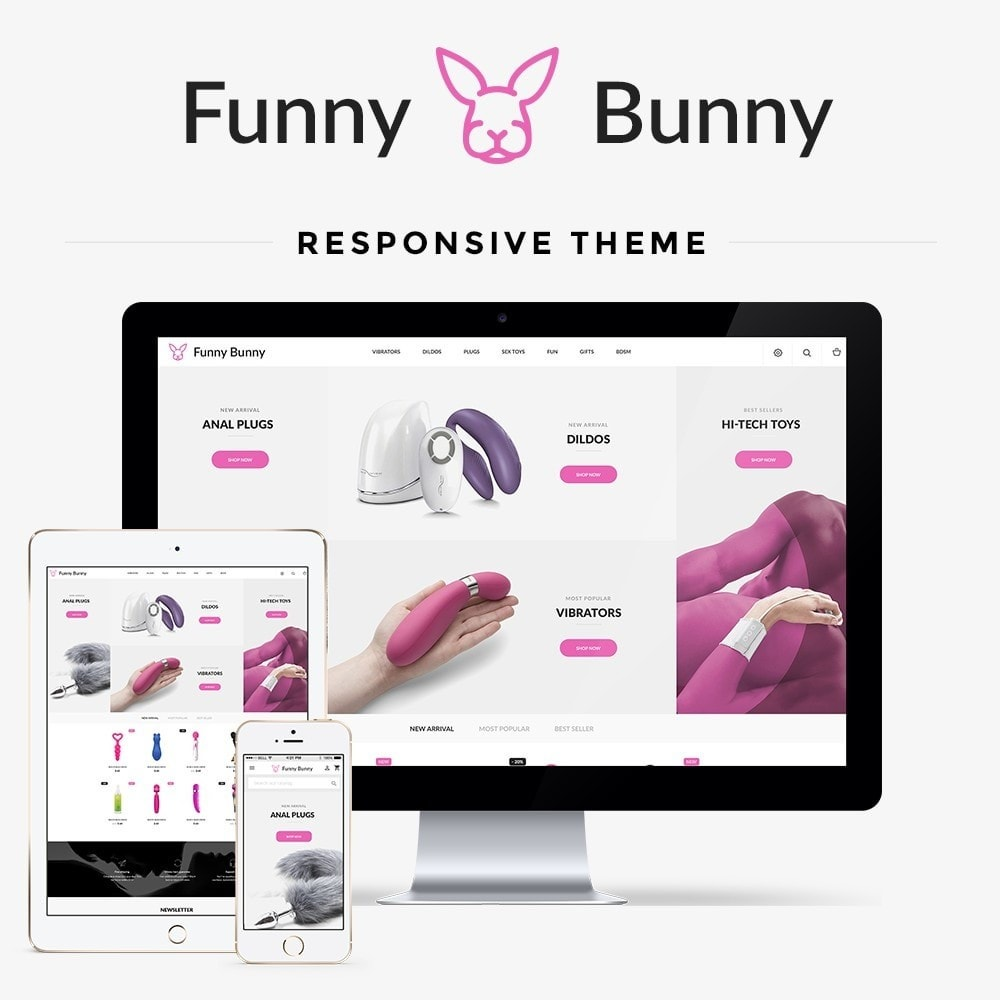 theme - Lingerie & Adultos - Funny Bunny - Sex Shop - 1