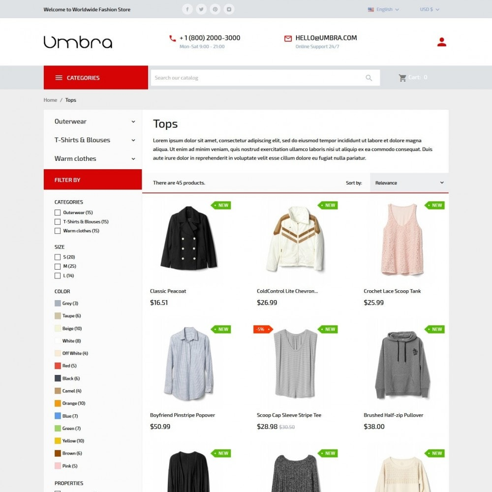 theme - Mode & Chaussures - Umbra Fashion Store - 5