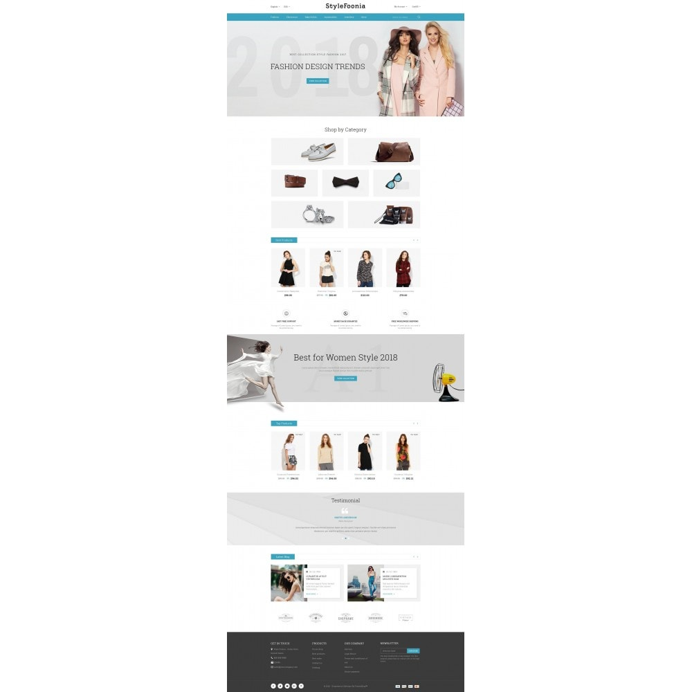 theme - Fashion & Shoes - Style Foonia - Fashion Store - 2
