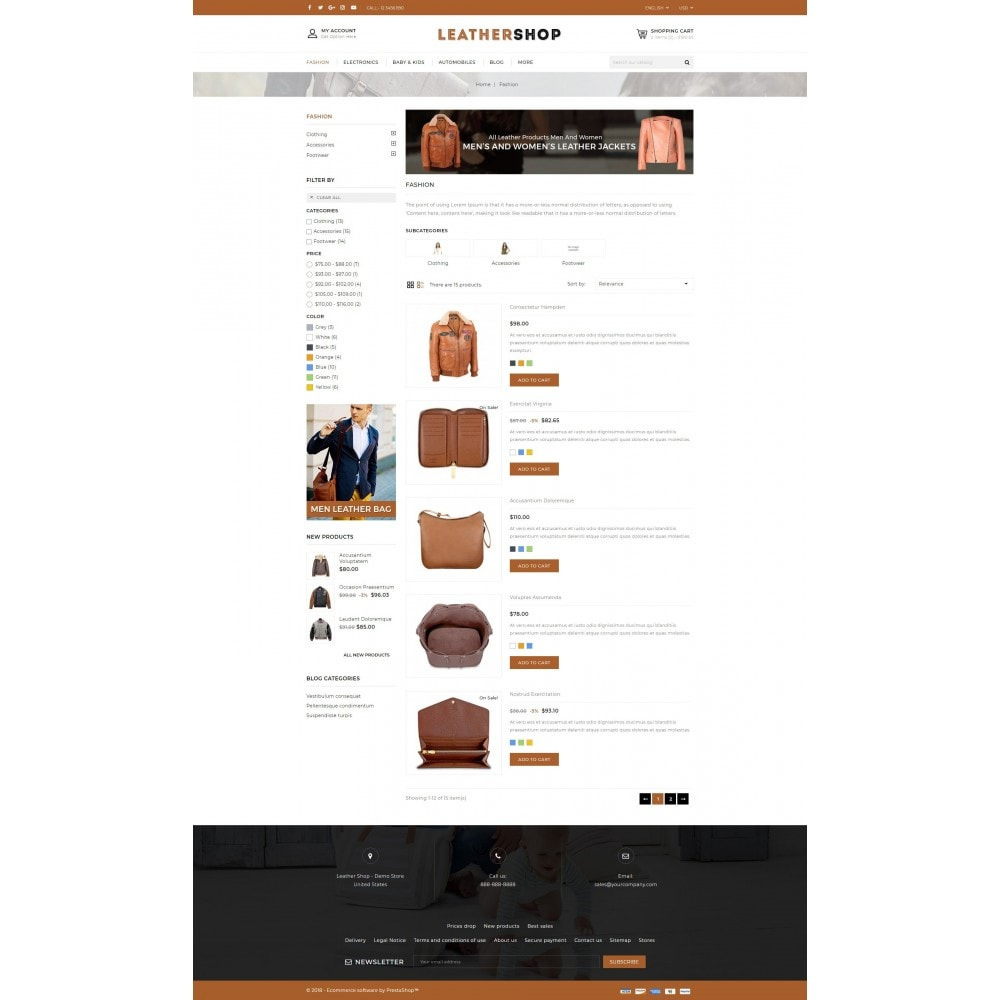 theme - Fashion & Shoes - Leather Shop - 4