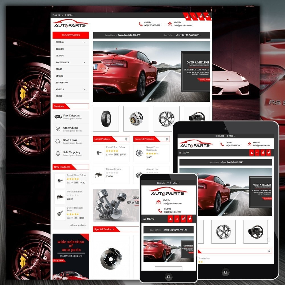 theme - Automotive & Cars - Auto Parts Store - 1