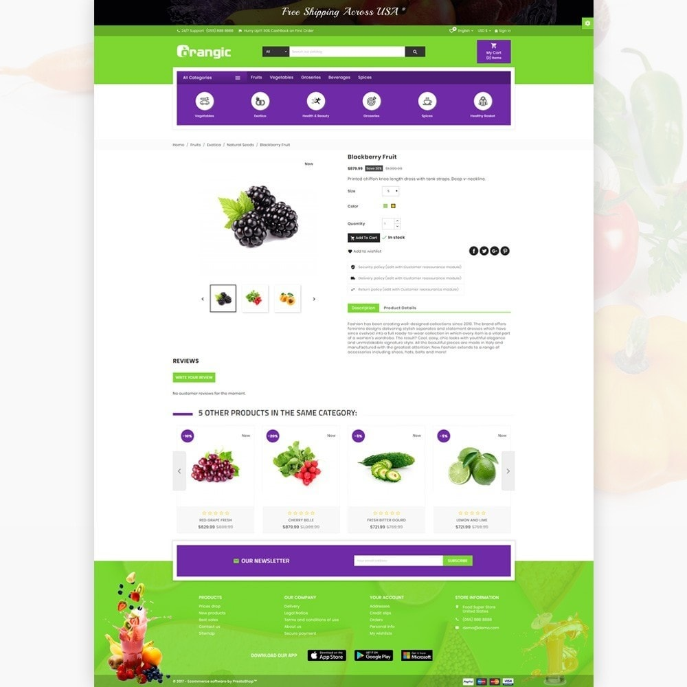 theme - Food & Restaurant - Orangic – Fresh Green Foods Super Store - 4