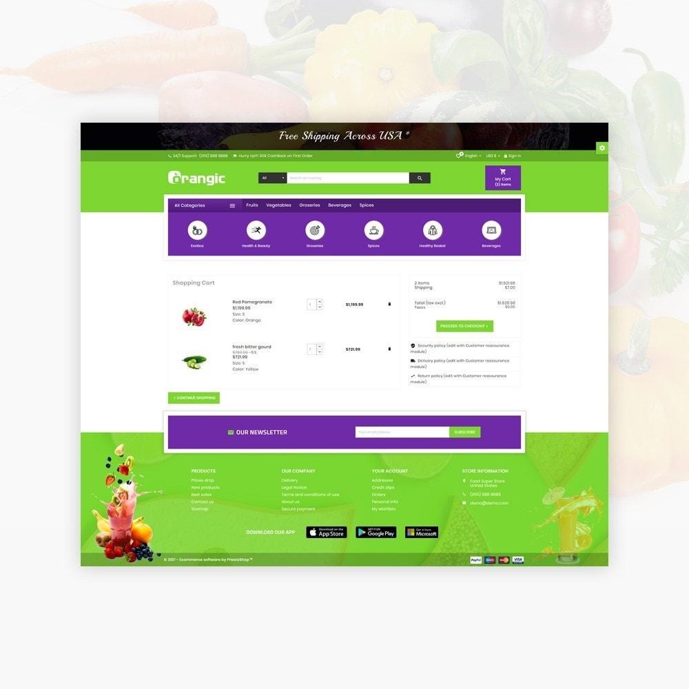 theme - Lebensmittel & Restaurants - Orangic – Fresh Green Foods Super Store - 5