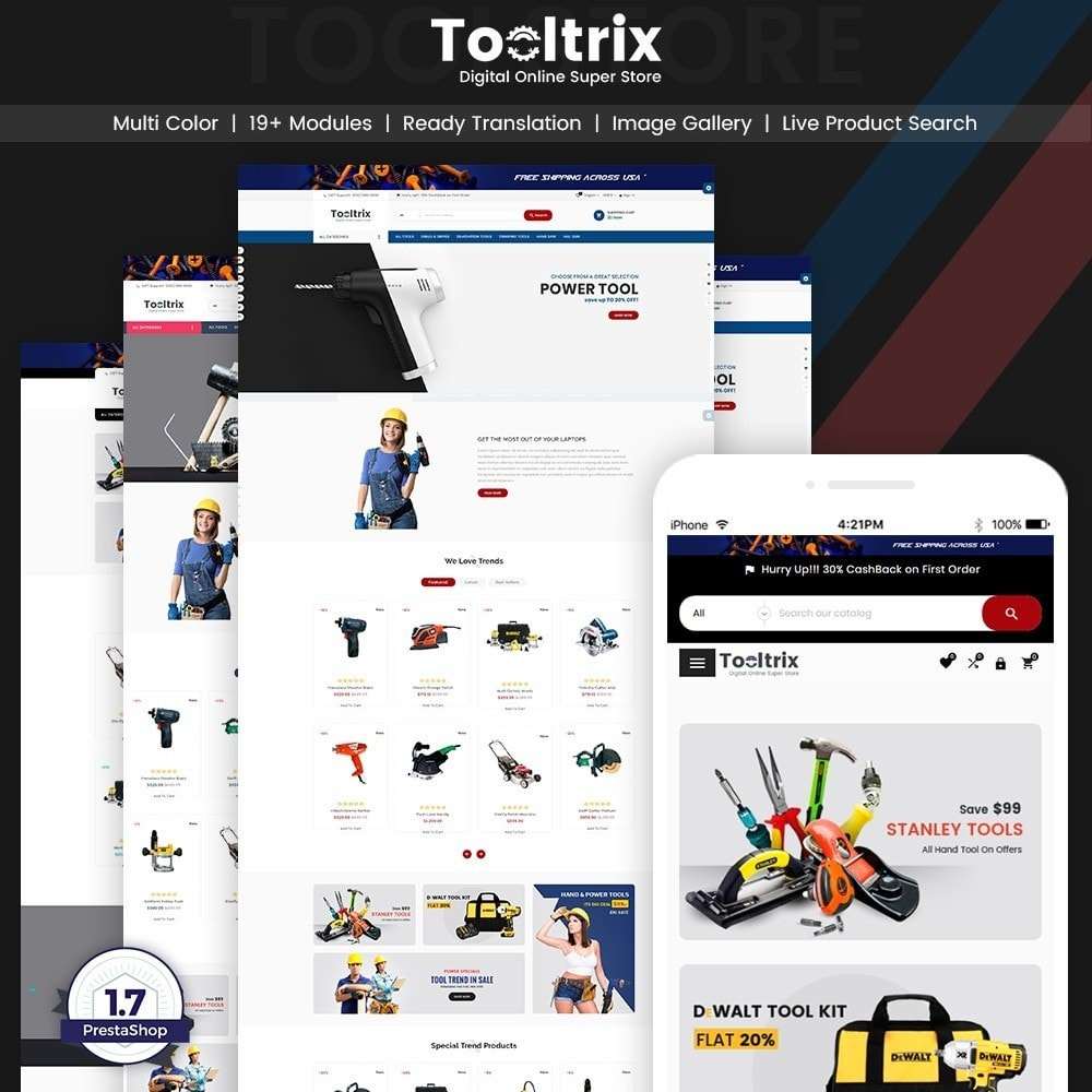 theme - Coches y Motos - ToolTrix – Tools and Parts Super Store v2 - 1