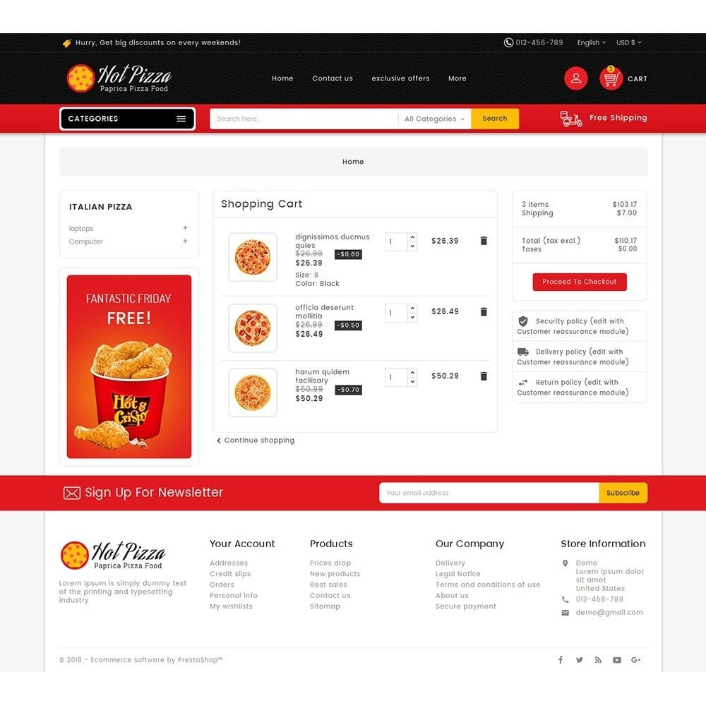 theme - Alimentation & Restauration - Paprika Pizza - Fast Food - 6