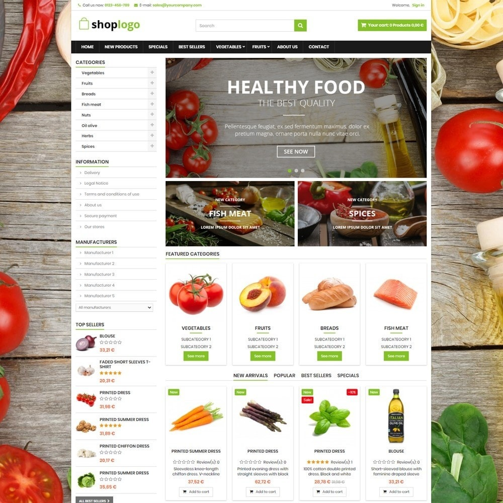 theme - Alimentos & Restaurantes - P16AT14 Food store - 1