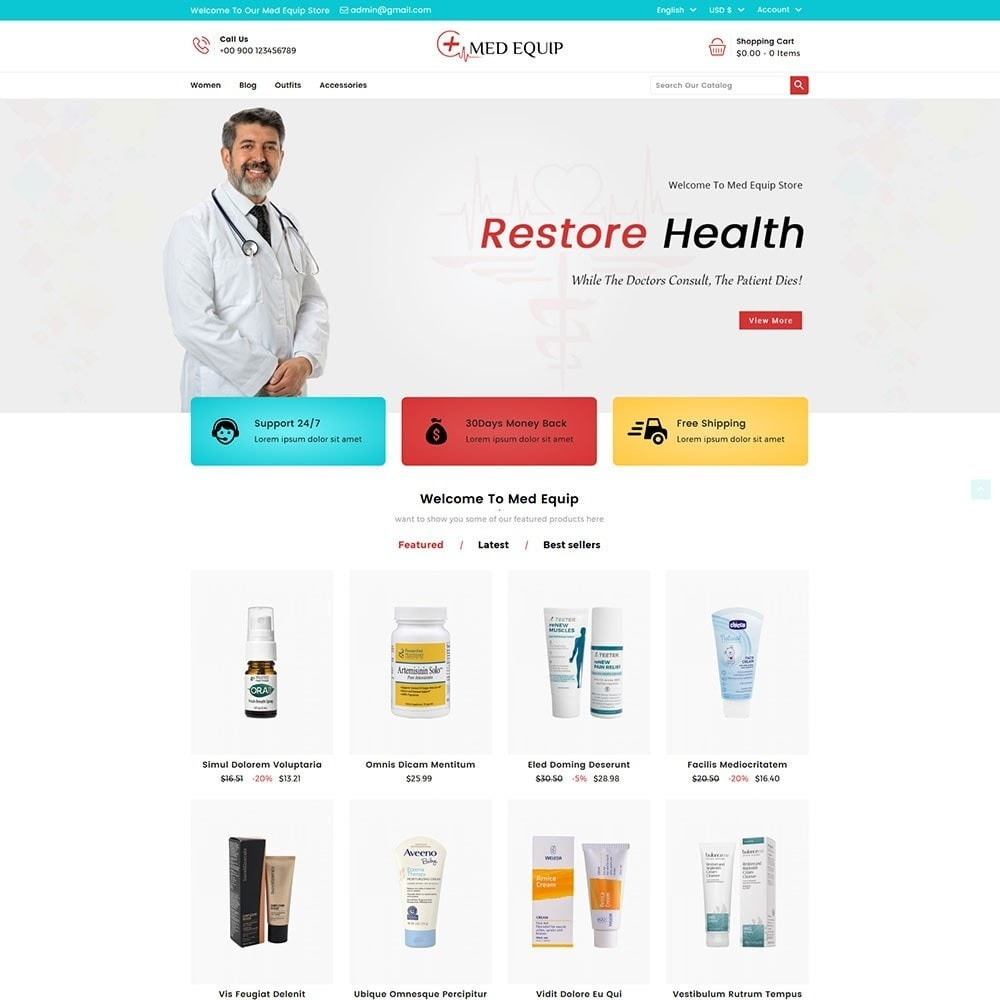 theme - Salute & Bellezza - Health and Medical Equipment Store - 2