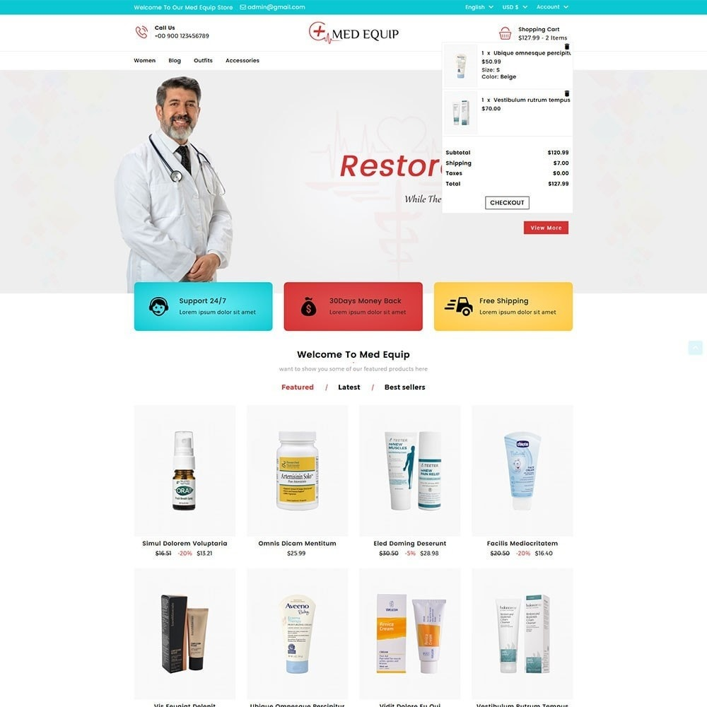 theme - Health & Beauty - Health and Medical Equipment Store - 3