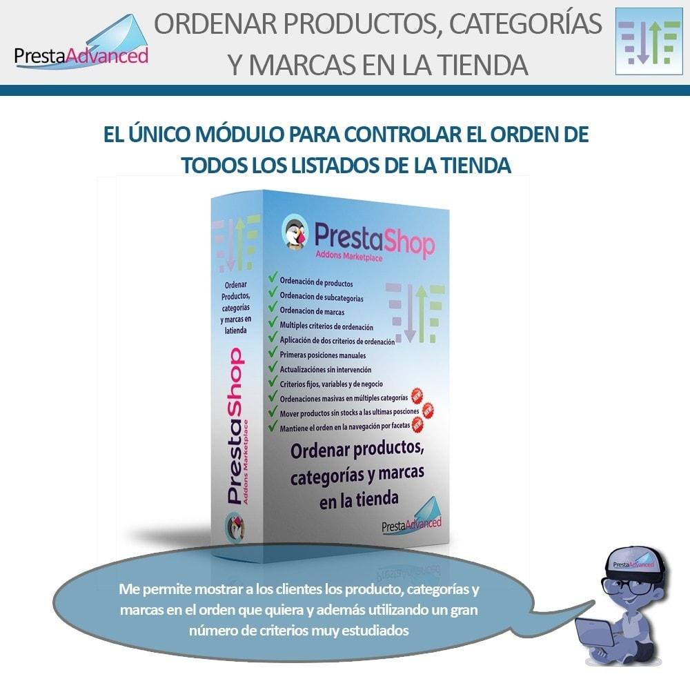 module - Personalización de la página - Ordenar productos, categorías y marcas en la tienda - 1