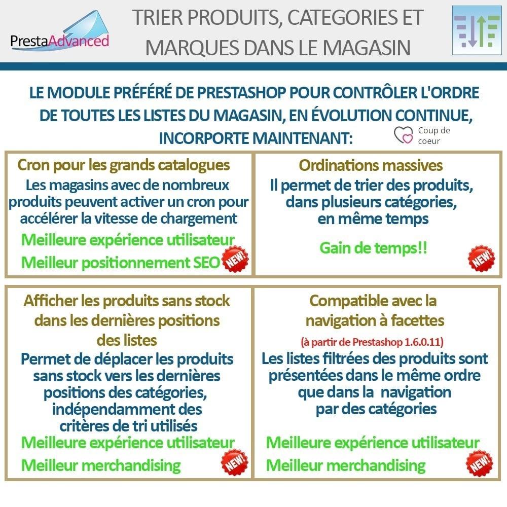 module - Personnalisation de Page - Tri de produits, catégories et marques dans le magasin - 3