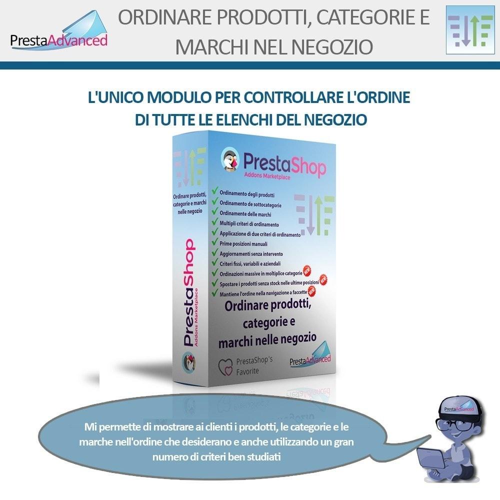 module - Personalizzazione pagine - Ordinamento di prodotti, categorie e marchi nel negozio - 1