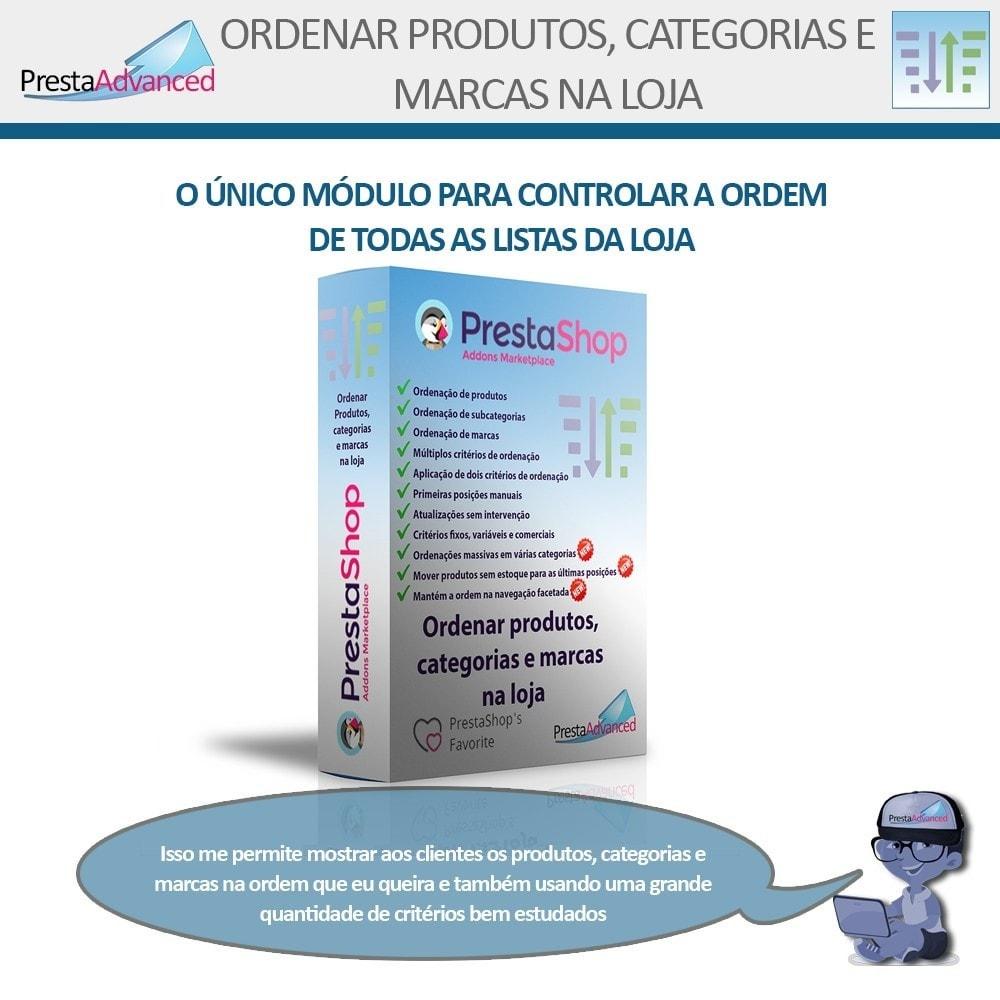 module - Personalização de página - Ordenar produtos, categorias e marcas na loja - 1