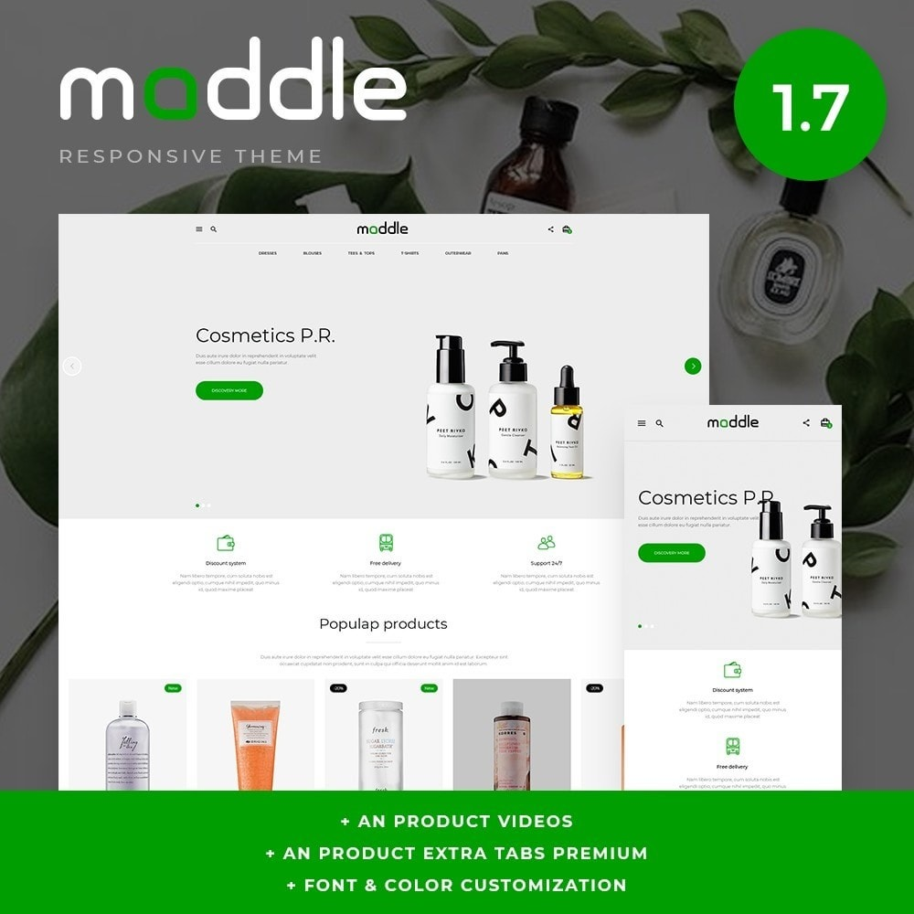 theme - Health & Beauty - Maddle Cosmetics - 1