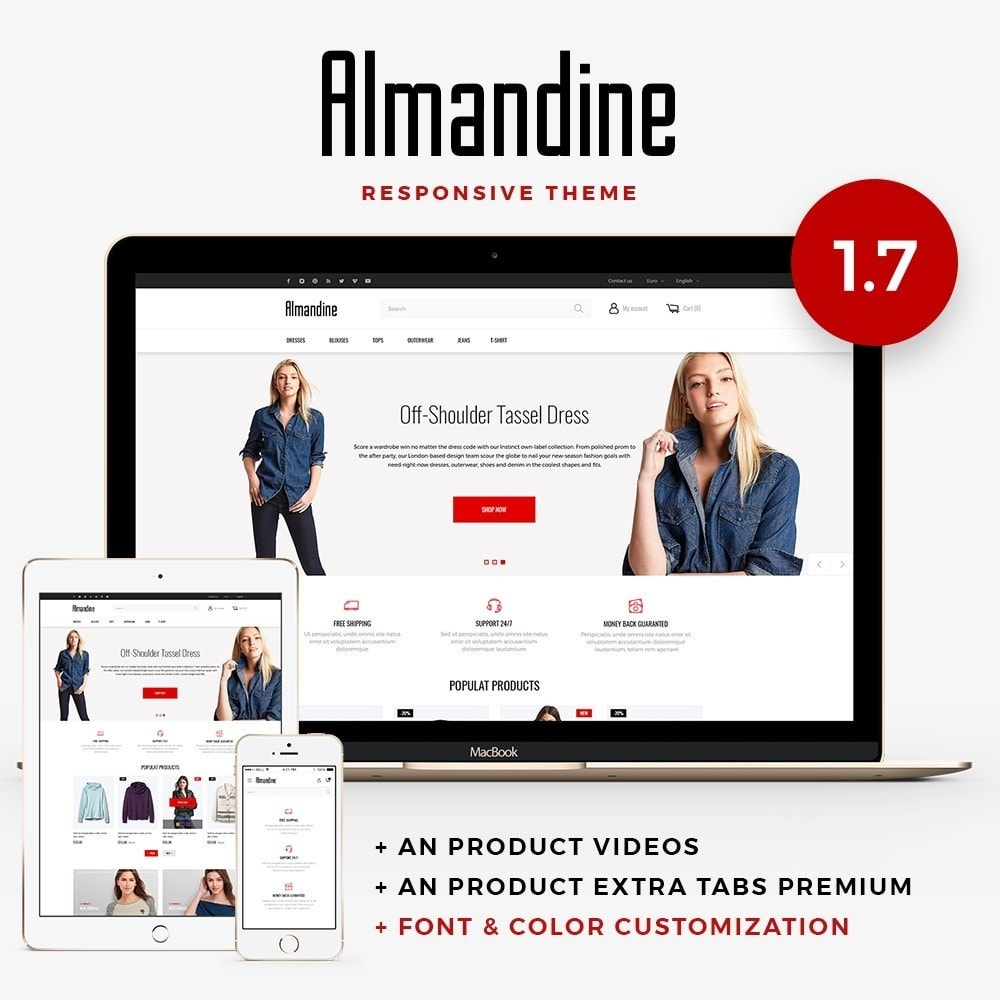 theme - Мода и обувь - Almandine Fashion Store - 1