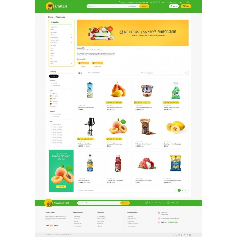 theme - Food & Restaurant - Mega Shoppe Grocery - 3