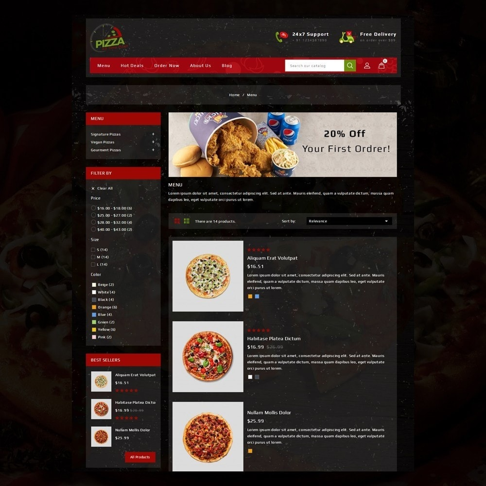 theme - Food & Restaurant - Pizza Store - 5