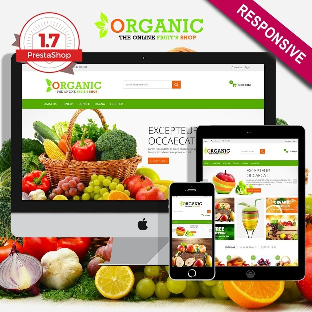 theme - Food & Restaurant - Organic Multishop  HTML5 - 1