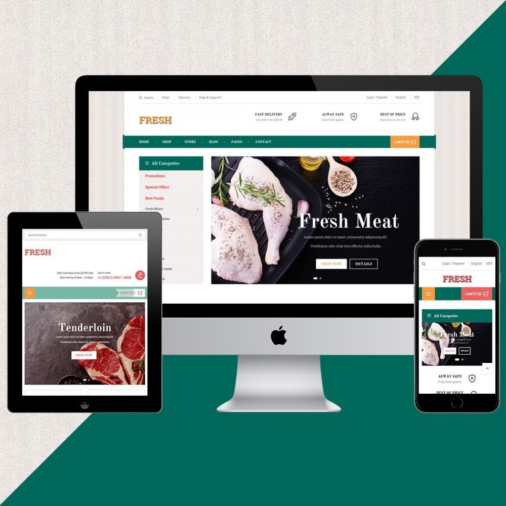 theme - Food & Restaurant - Fresh Store - 2