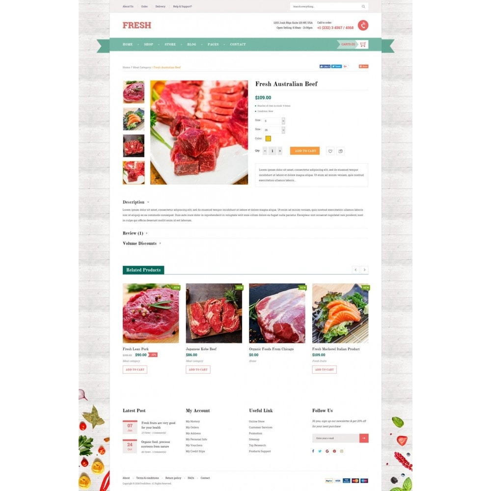 theme - Food & Restaurant - Fresh Store - 8