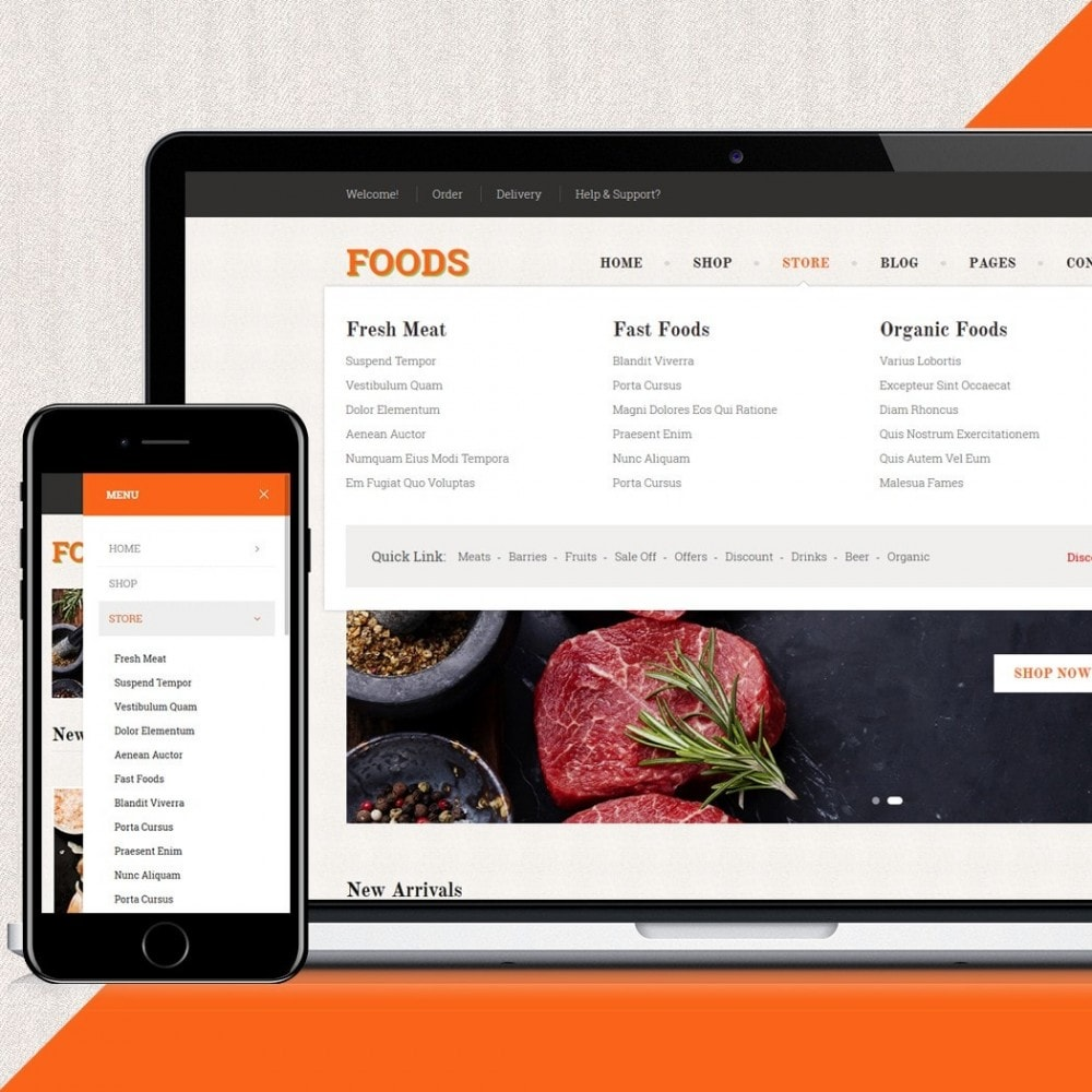 theme - Alimentos & Restaurantes - Food Shop - 4