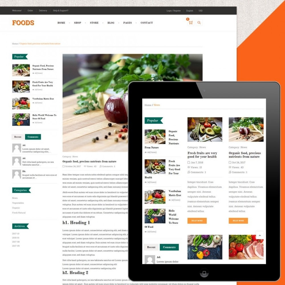 theme - Alimentos & Restaurantes - Food Shop - 5