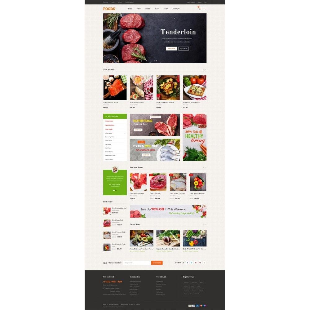 theme - Продовольствие и рестораны - Food Shop - 7