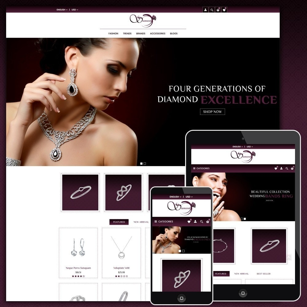 theme - Schmuck & Accesoires - Diamond Jewellery Shop - 1