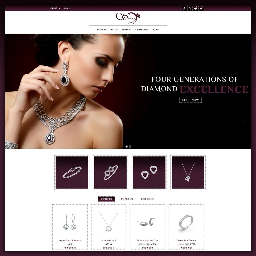 theme - Sieraden & Accessoires - Diamond Jewellery Shop - 2