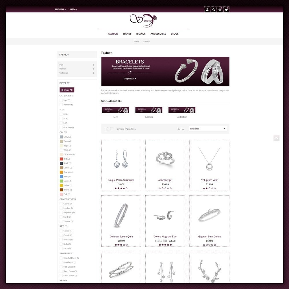 theme - Schmuck & Accesoires - Diamond Jewellery Shop - 3