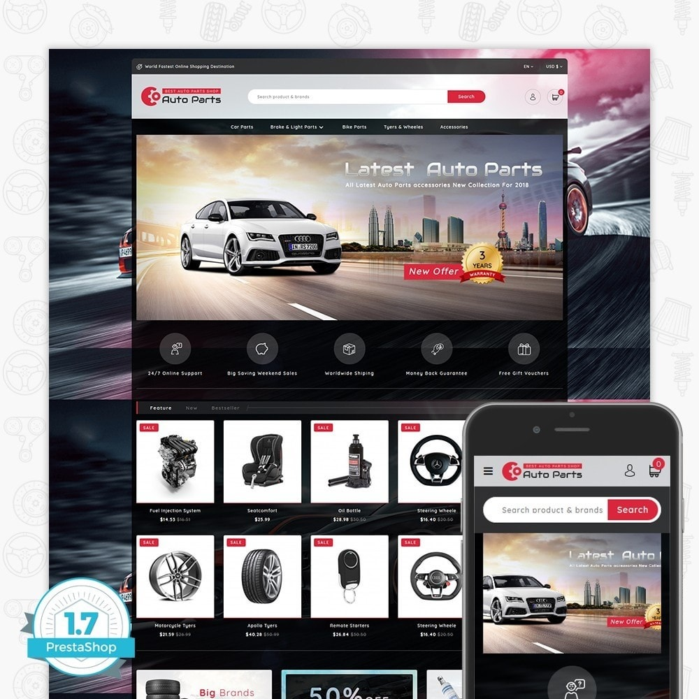 theme - Coches y Motos - Auto Store - 1