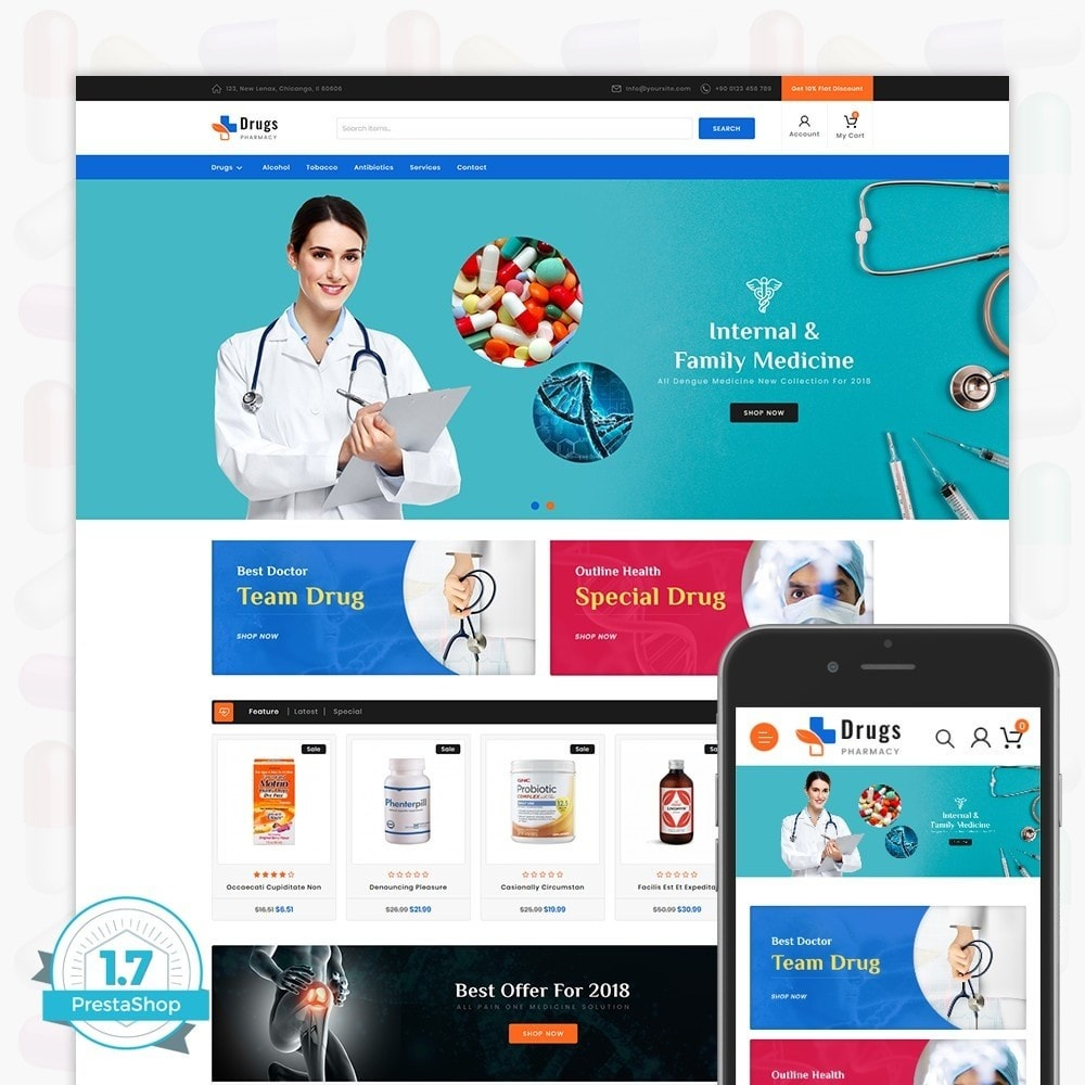 theme - Temas PrestaShop - DrugStore - 1