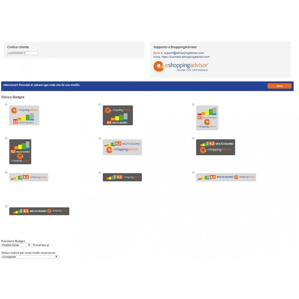 module - SEO (Indicizzazione naturale) - Modulo recensioni certificate eShoppingAdvisor.com - 2