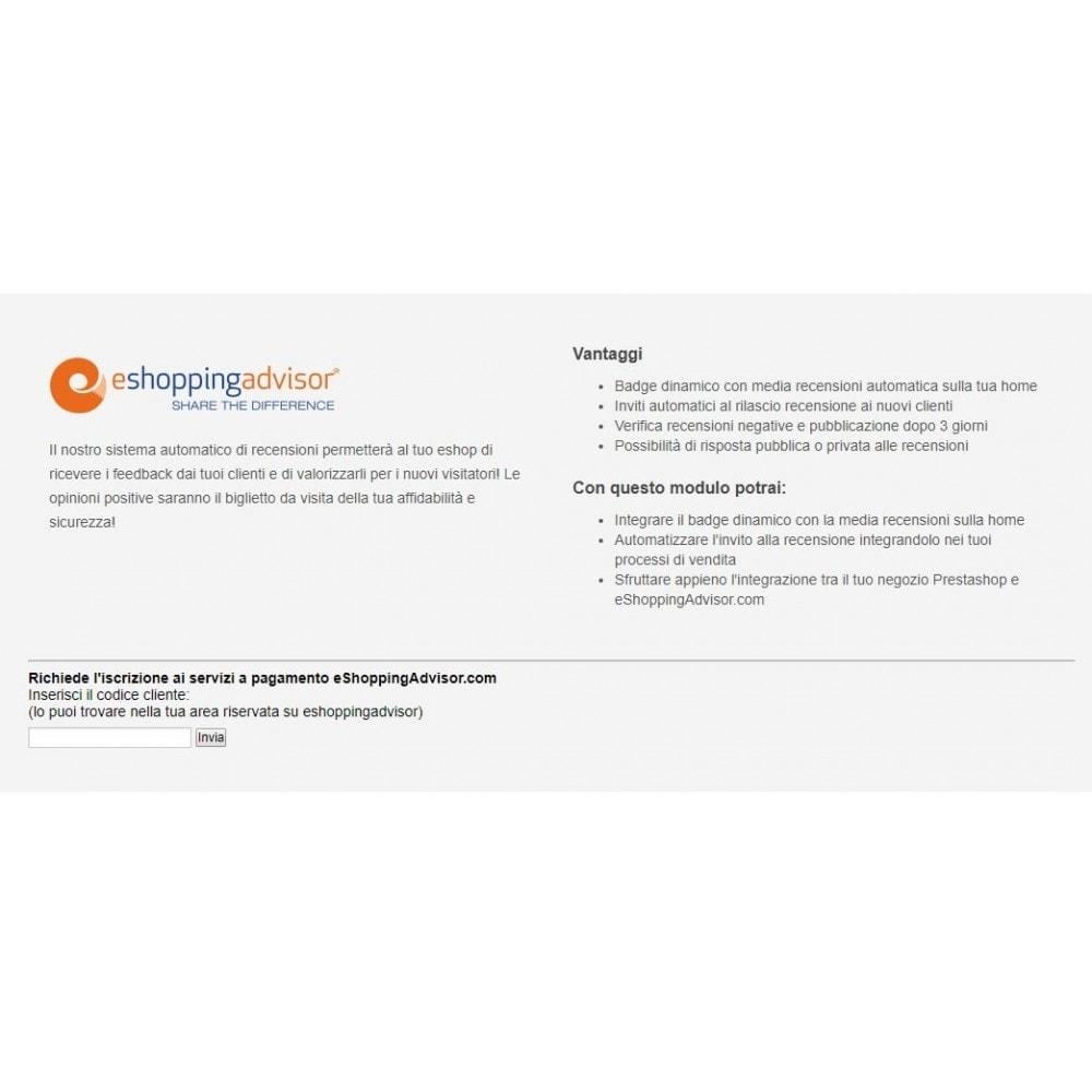module - SEO (Posicionamiento en buscadores) - Revise el módulo de certificado de eShoppingAdvisor.com - 1
