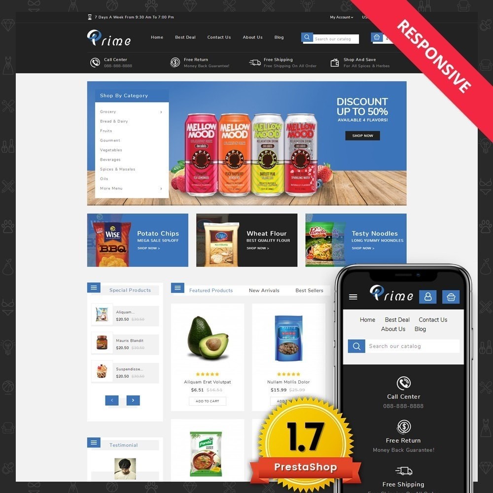 theme - Food & Restaurant - Prime Grocery Store - 1
