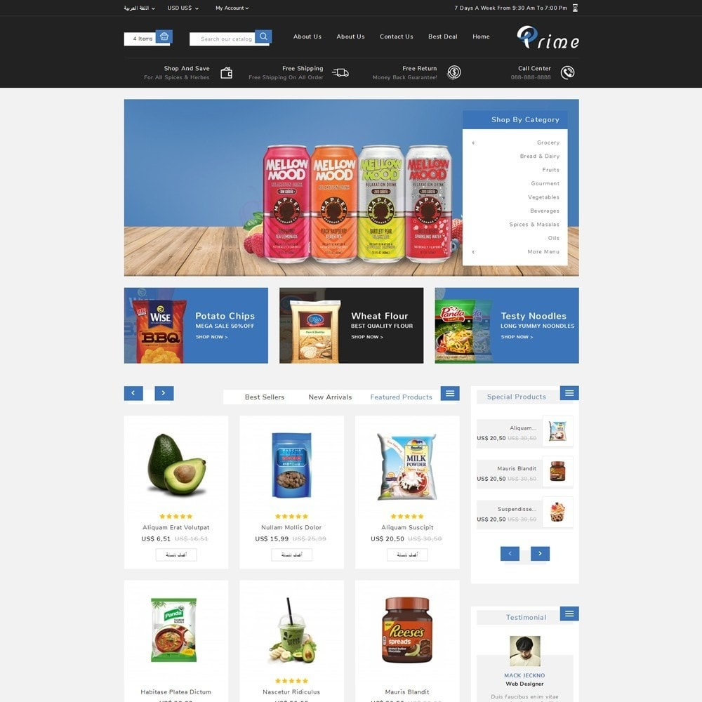 theme - Food & Restaurant - Prime Grocery Store - 11