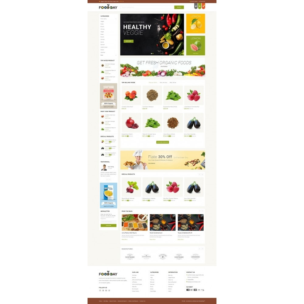 theme - Alimentation & Restauration - FoodDay - Food & Restaurant Store - 2