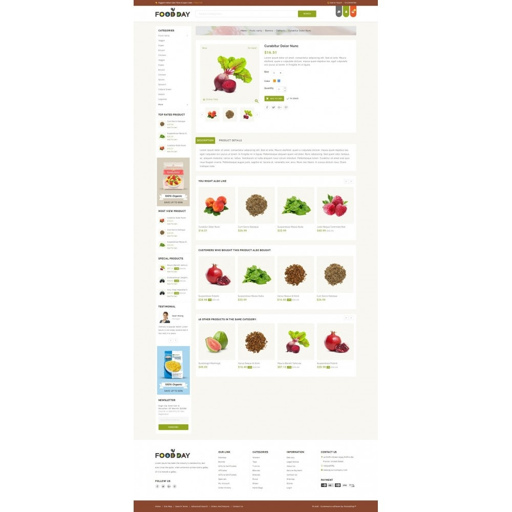 theme - Food & Restaurant - FoodDay - Food & Restaurant Store - 4