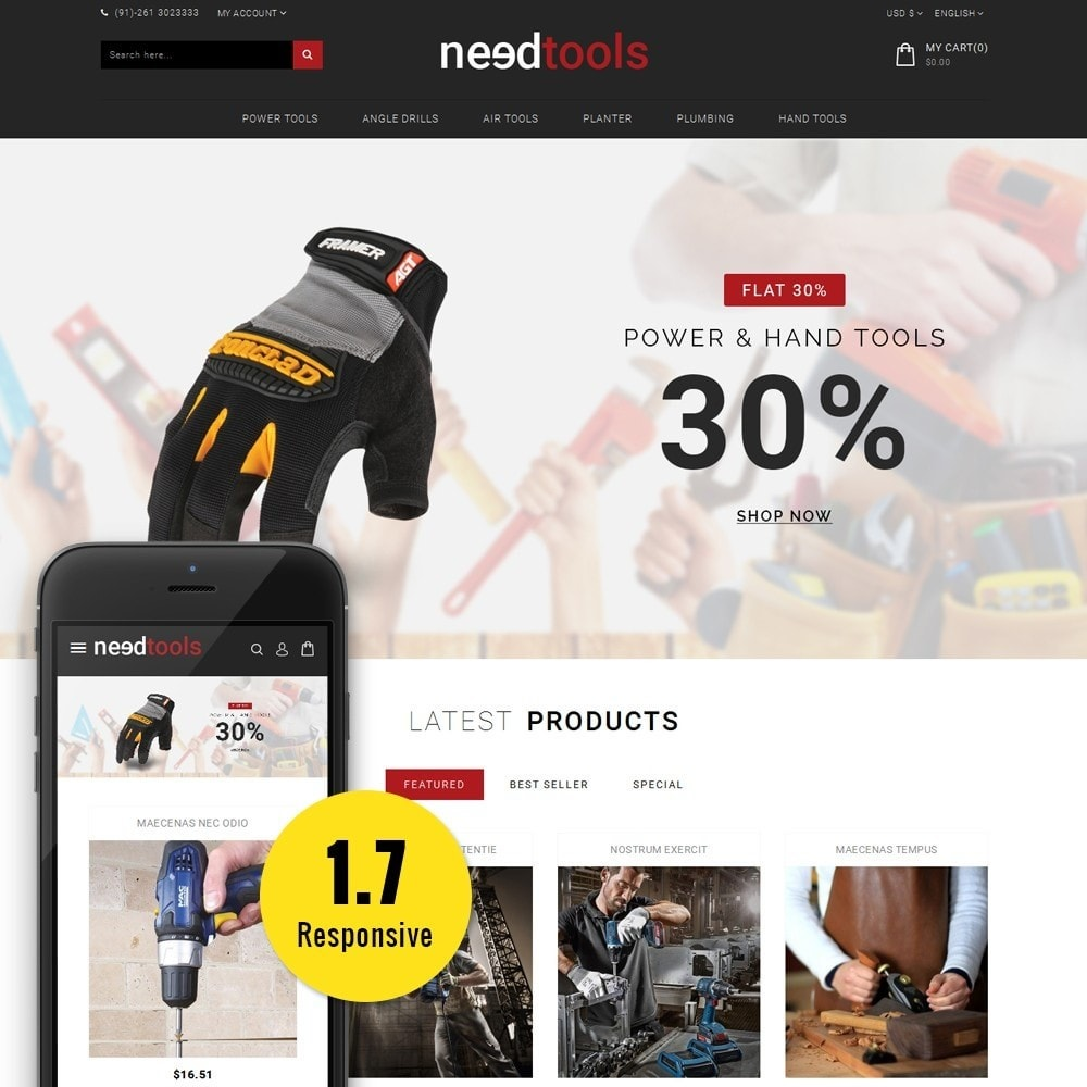 theme - Carros & Motos - NeedTools Store - 1