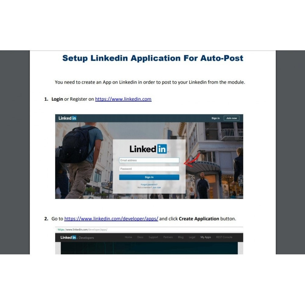 module - Prodotti sui Facebook & Social Network - Auto-Post Products to Linkedin - 8