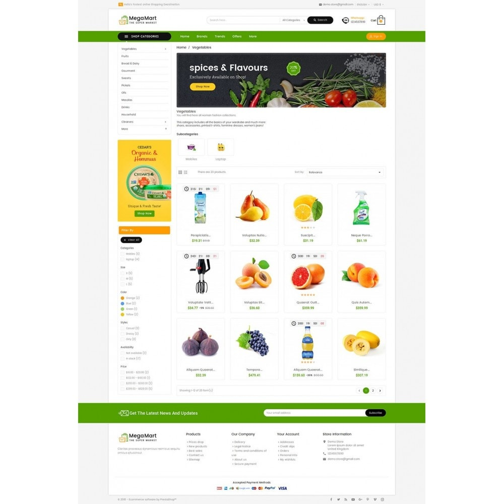 theme - Food & Restaurant - Mega Mart Grocery - 3