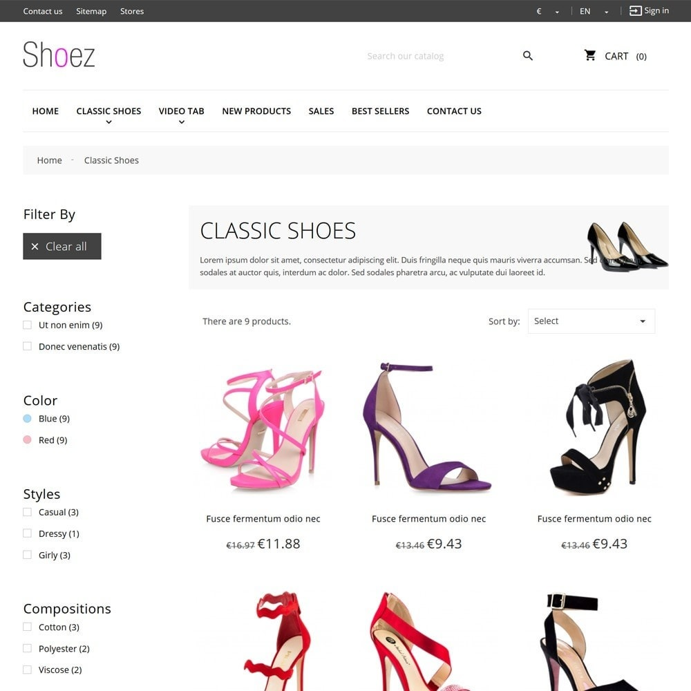 theme - Moda y Calzado - Shoez - 7